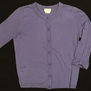 Kate Spade Bow-cuff Cardigan (S) Periwinkle